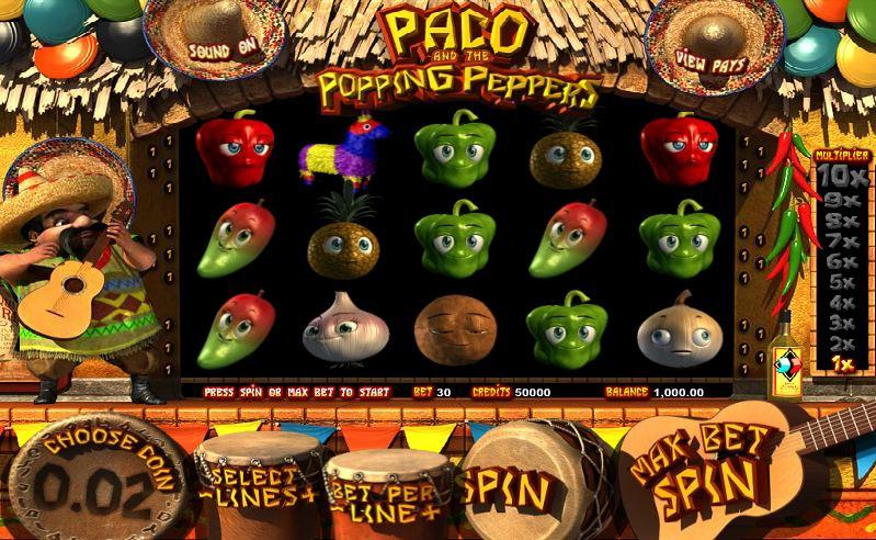 Игровой автомат paco and popping peppers игровые автоматы играть обезьяна бесплатно и без регистрации